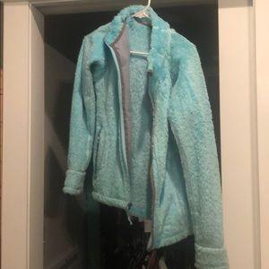 Medium blue marmot fuzzy jacket